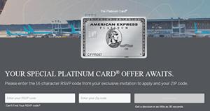 Amexplatinumrsvp.com | Credit Card Invitation